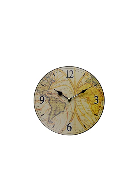 Buy omada ohc 25037 golden world map 9 inch wall clock online at omada ohc 25037 golden world map 9 inch wall clock gumiabroncs Choice Image