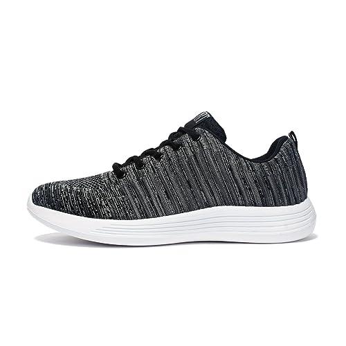 Voovix Scarpe da Corsa Sneaker Uomo Scarpe Sportive Traspiranti Fitness  Shoes Men Women(Grigio,