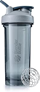BlenderBottle Pro Series Shaker Bottle, 28-Ounce, Pebble Grey