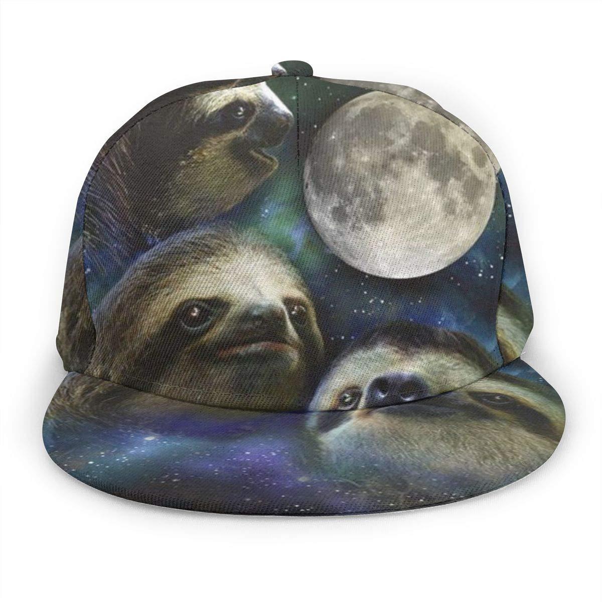 Kunming~ Three Sloth Astronauts Girl Adult Cap Adjustable Cowboys Hats Black