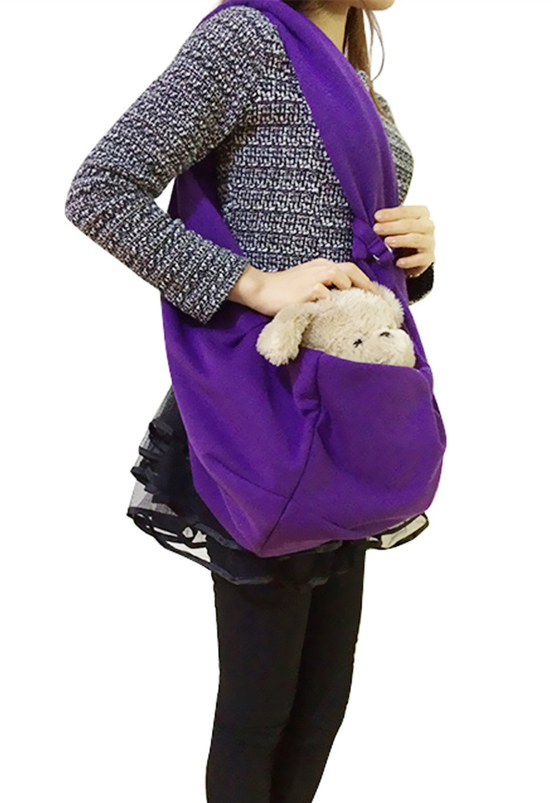 FakeFace Small Dog Cat Sling Carrier Bag Travel Tote Soft Cozy Puppy Kitty Rabbit Pouch Shoulder Carry Tote Bag