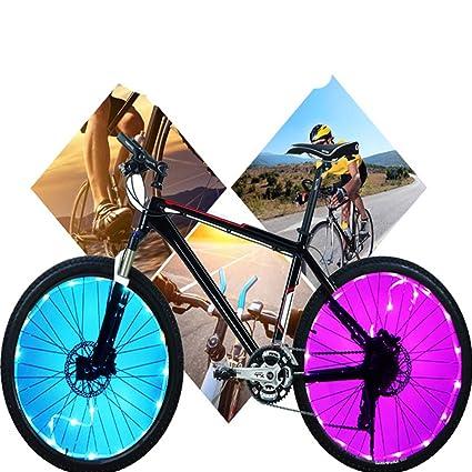 Woopower - Luces para Rueda de Bicicleta (20 ledes, 7 Colores cambiantes, Impermeables