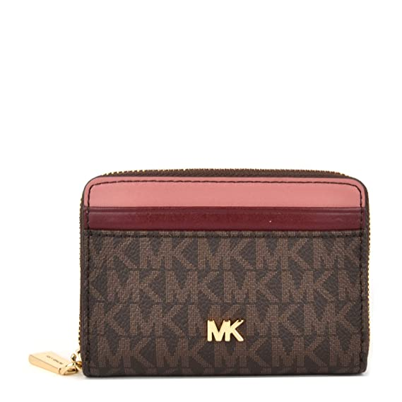 41285154948bb1 MICHAEL by Michael Kors Money Pieces Colourblock Zip Around Card Case one  size Brown: Amazon.co.uk: Clothing