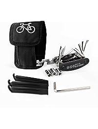 17 in 1 Multi Tire Tyre Repair Tool Kit Set Pump Bag for  Cycling Bike Bicycle T
