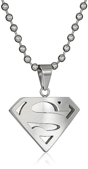 Amazon Dc Comics Superman Mens Comics Stainless Steel Necklace