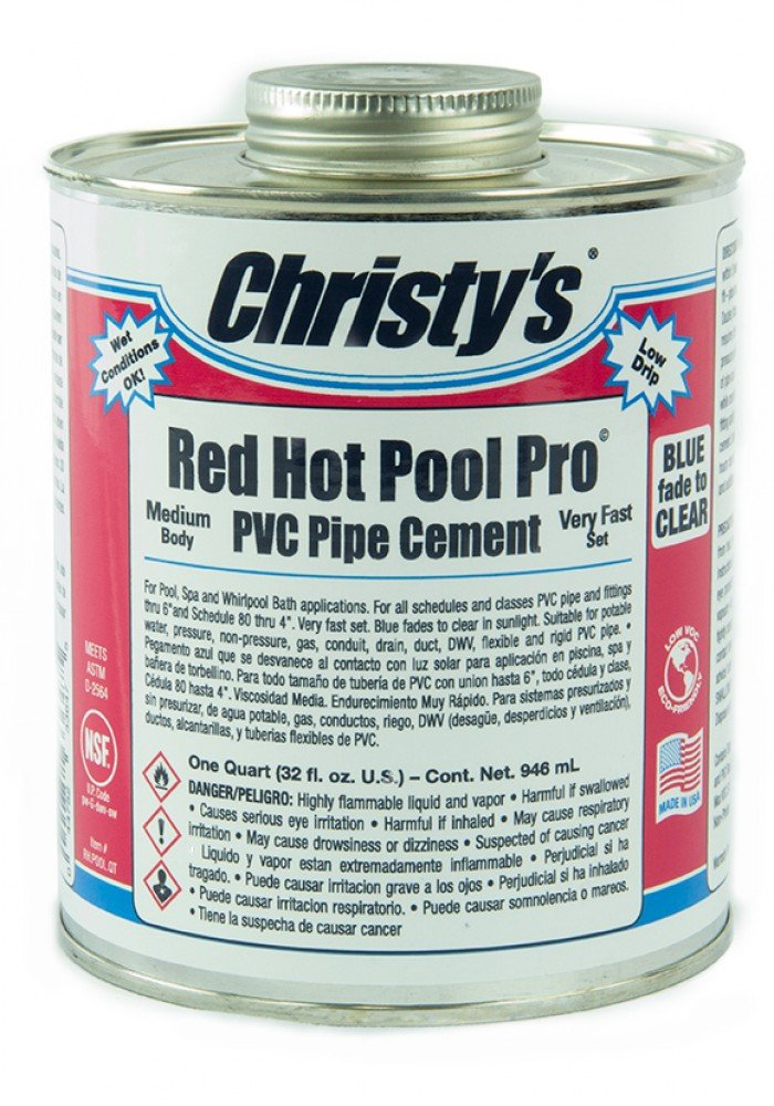 Christy's Red Hot Pool Pro PVC Pipe Cement
