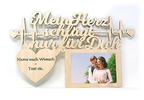 Ich Liebe Dich Geschenk Mit Namen Und Text Gravur Wand Bilderrahmen Hochzeit Verlobung Ehepaar Paar Pärchen Für Mann Männer Frauen Freundin Freund