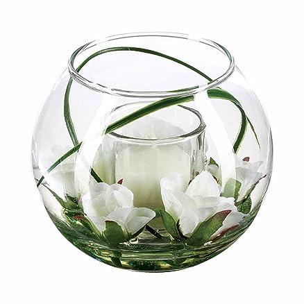 Molto Composizione di fiori artificiali in vaso, in vetro, colore  ZR03