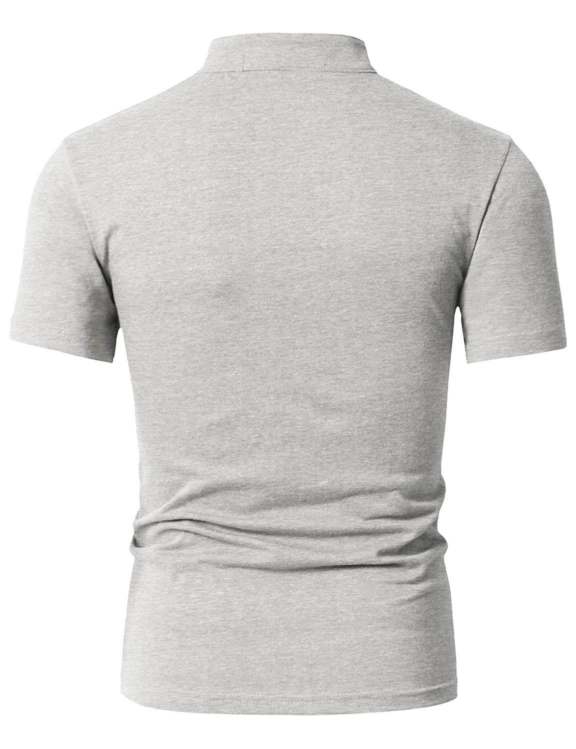 bcd6aa0bcad DANDYCLO Men s Henley Style Comfortable Fabric Short Sleeve Basic Design Top  Ivory X-Small