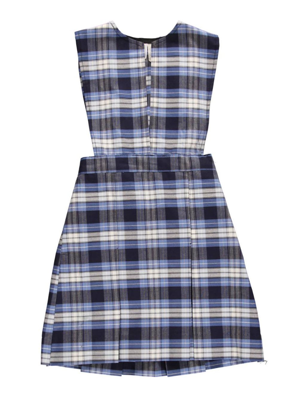 Cookie's Brand Big Girls' Slit Neck Jumper with Kick Pleats - Blue/White by Cookie's Kids (Image #1)