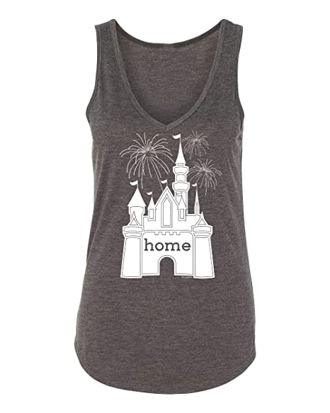 09fbb99f0bf10 Amazon.com  DisGear Castle is My Home Tank Fireworks for Women - Ladies  Cami (X-Large