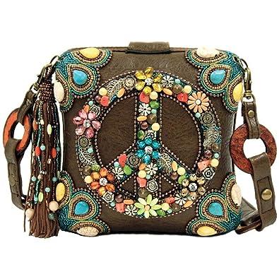 Mary Frances Peace Out Handbag  Handbags  Amazon.com da8da3299e61a