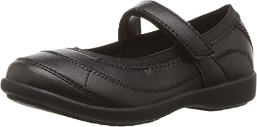 Youth Girl/'s Hush Puppies Reese Mary Jane Flats Black