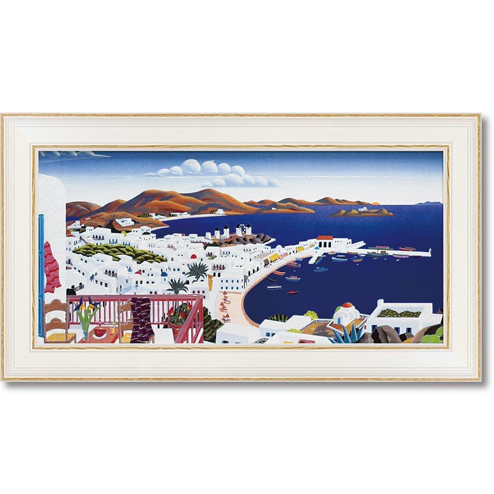 ユーパワー Thomas McKnight トーマスマックナイト Gel加工 アートフレーム(M) 「ミコノスパノラマ」 TM-06511 B0784VKKGFW46.5xH26cm