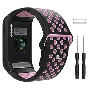 MoKo Pulsera para Garmin Vivoactive HR, Pulsera de Silicona Respirable y Reemplazable, Banda de Reloj Deportivo con Cierre: Amazon.es: Electrónica