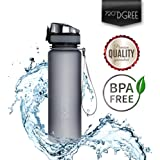 Water Bottle by 720°DGREE made of Tritan 1000ml - 32oz | Sports Bottle | Free of BPA, BPS, Phthalates | 1-Click Opening | The Healthy Way to Drink | Ideal Drinking Bottle for Kids, School, Campus, Office, Running, Gym, Yoga, Sports, Hiking, Biking, Travelling or Auto Move