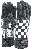 [エドウィン] 手袋 ニット 雪柄 裏フリース メンズ