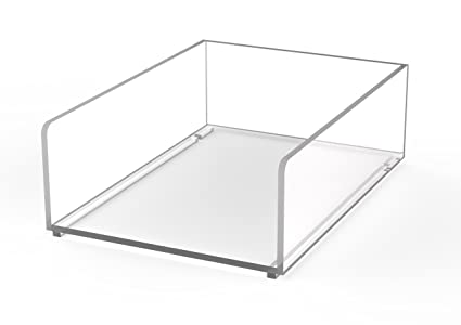 Maul - Portanotas, DIN A6 acrílico cajón organizador, transparente ...