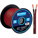 InstallGear 14 Gauge AWG 30ft Speaker Wire True Spec and Soft Touch Cable - Red/Black