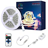 Amazon Price History for:White LED Light Strip, Nexlux 16.4ft 12V Flexible daylight white 300 Units SMD 5630 LED, 6000K ,Non-waterproof 12V LED lights for Home/Kitchen/Bar, UL approved Power Adapter and RF Remote included