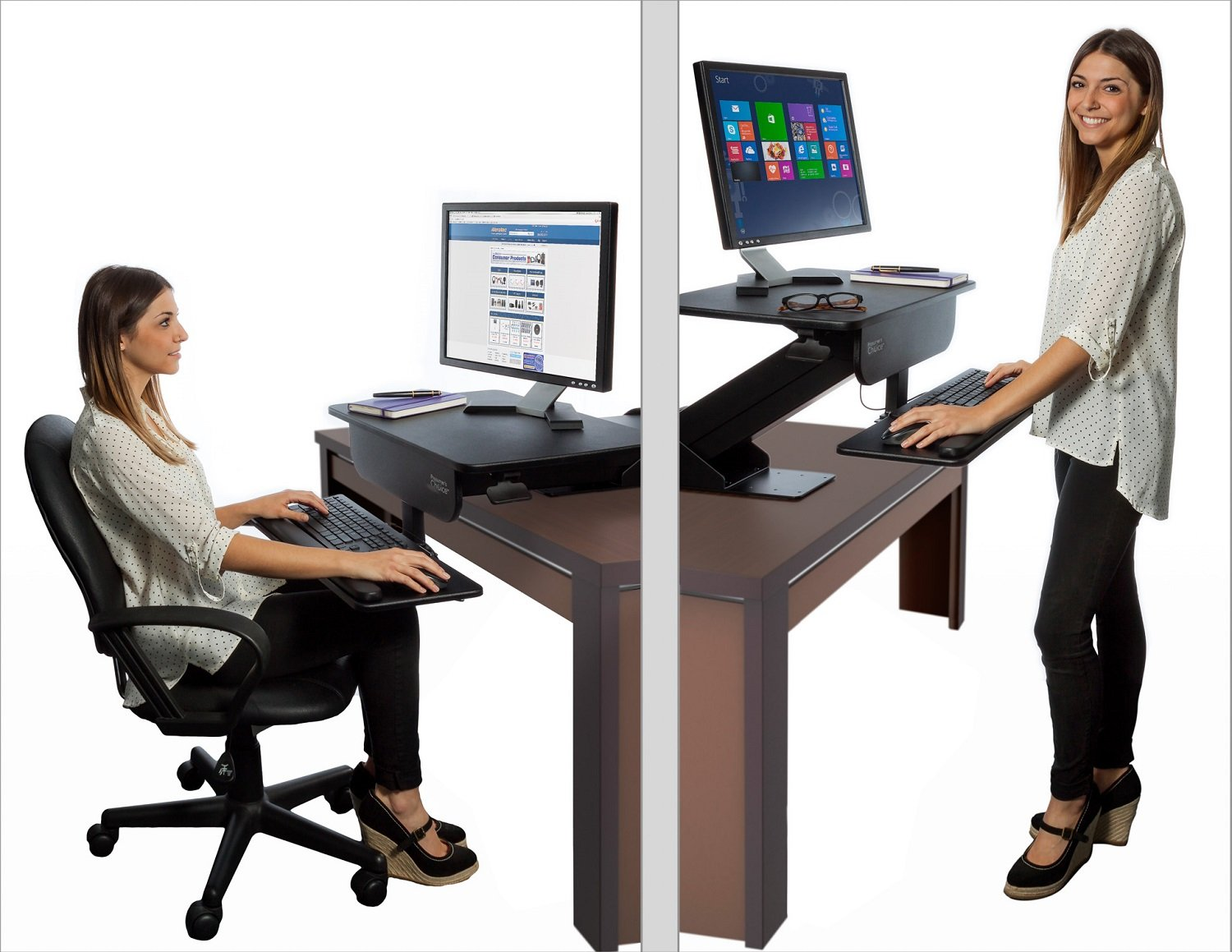 Amazoncom Prosumers Choice Adjustable Height Gas Spring Easy Lift - Computer stand for standing at desk