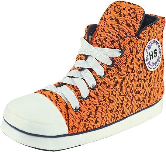 Home Slipper Bequem Kuschelig Sneaker Turnschuhe Hausschuhe Pantoffeln für Männer mit vielfältig Muster