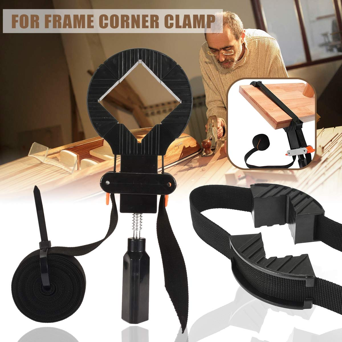 XINTONGRULE Multifunctional Belt Clamp Woodworking Quick Adjustable Band clamp Polygon Clip Right Angle Corner Strap Photo Frame Clips by XINTONGRULE