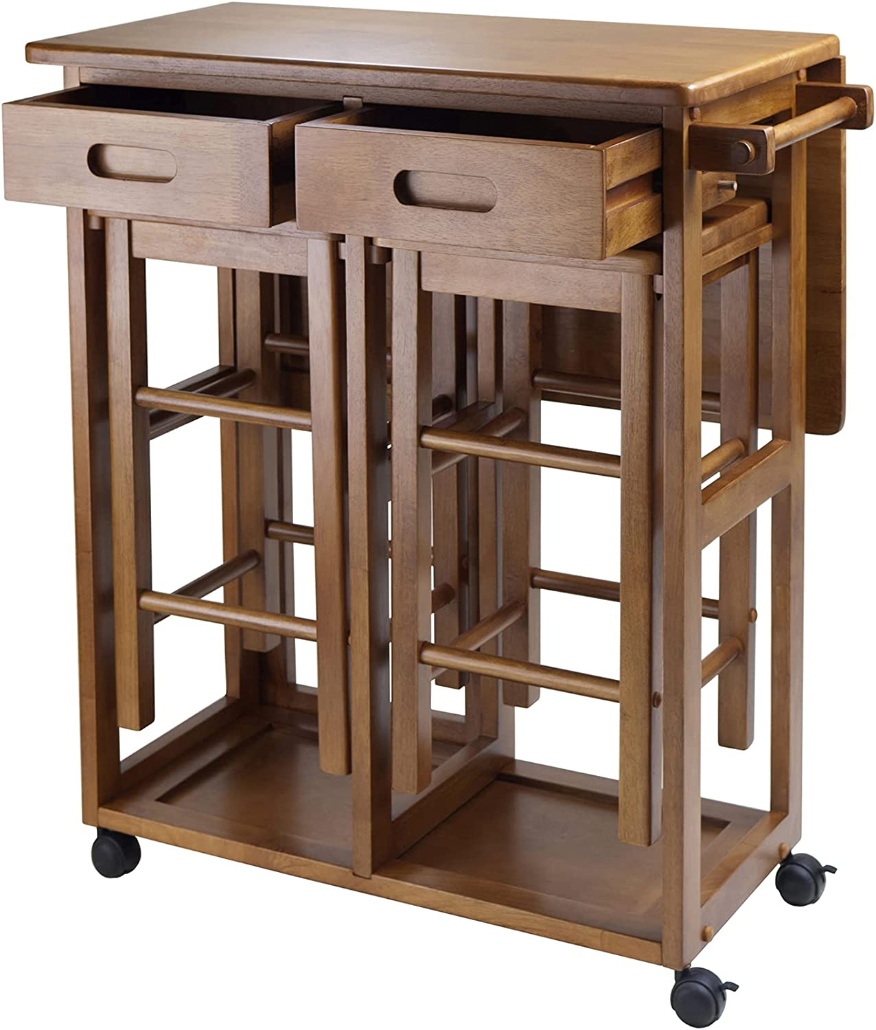 Winsome Wood Suzanne Kitchen, (1 Pack ( Teak ), 29.61 x 29.13 x 32.75 Inches)