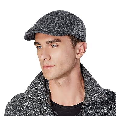 6b0009b0ad521 Kenmont Schirmmütze Wolle Gatsby Flatcap Cabbie Newsboy Ivy Mütze Irische  Golfermütze