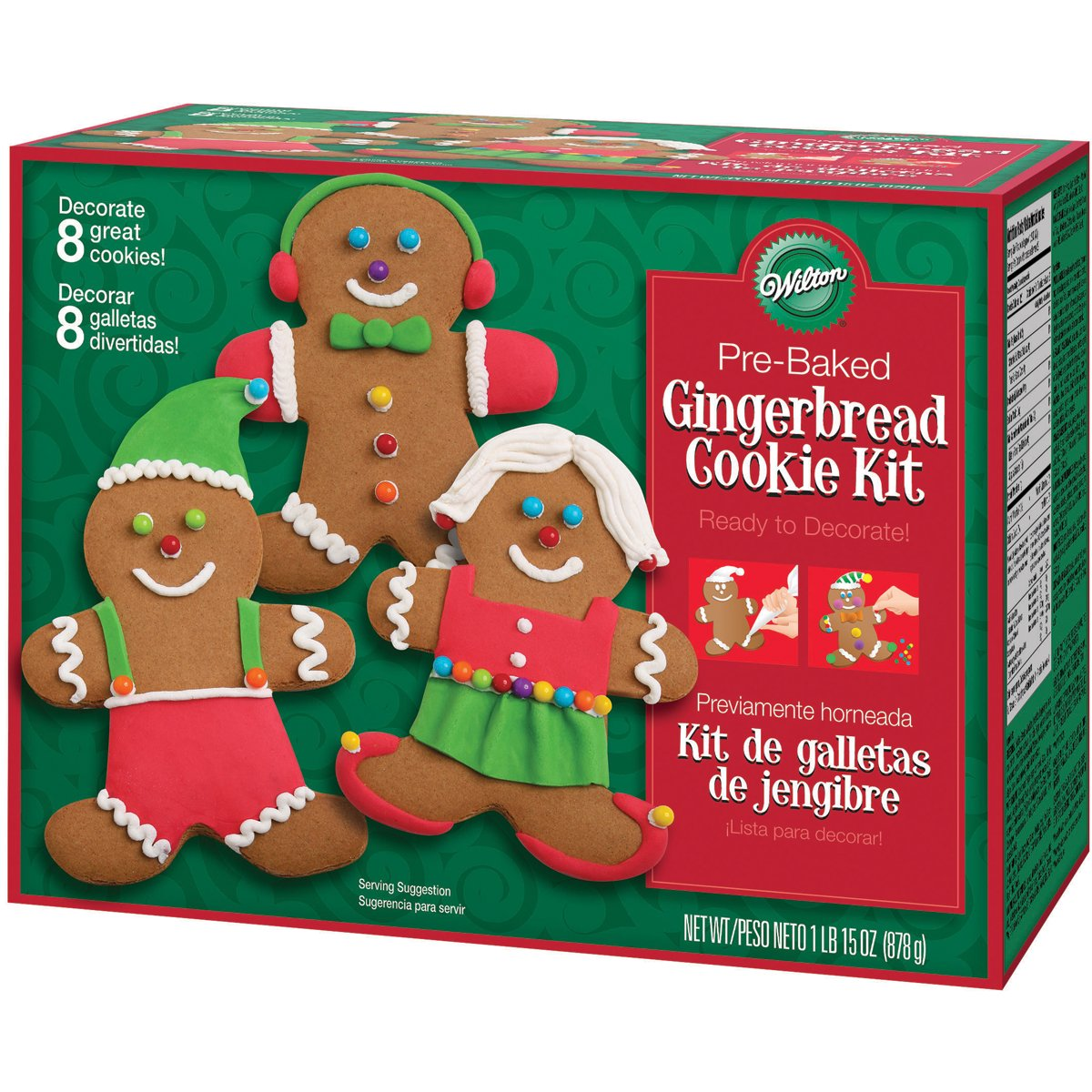 Wilton Holiday Gingerbread Cookie Kit