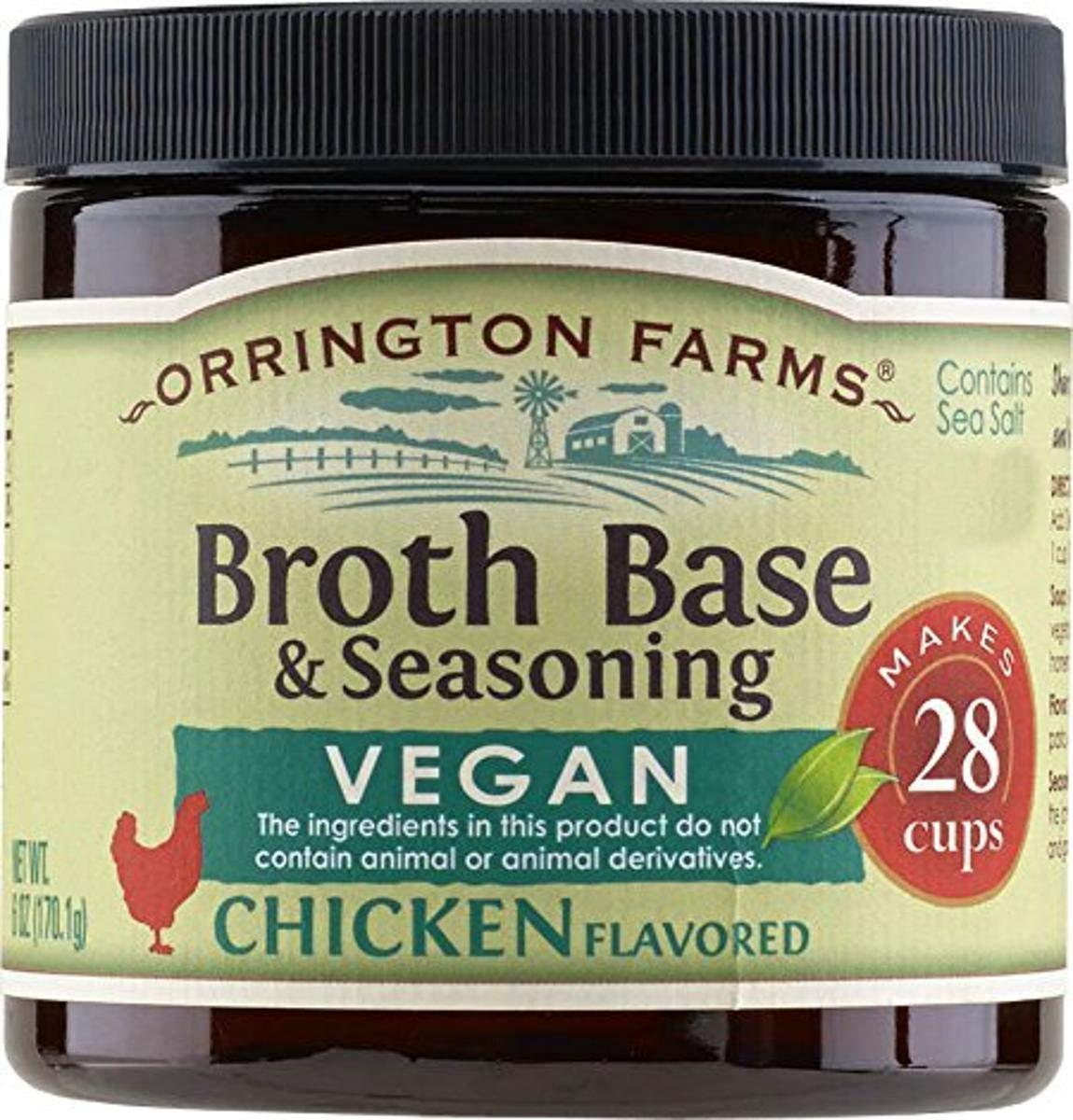 Orrington Farms All Natural Broth Base Seasoning, Vegan Chicken, 6 Ounce