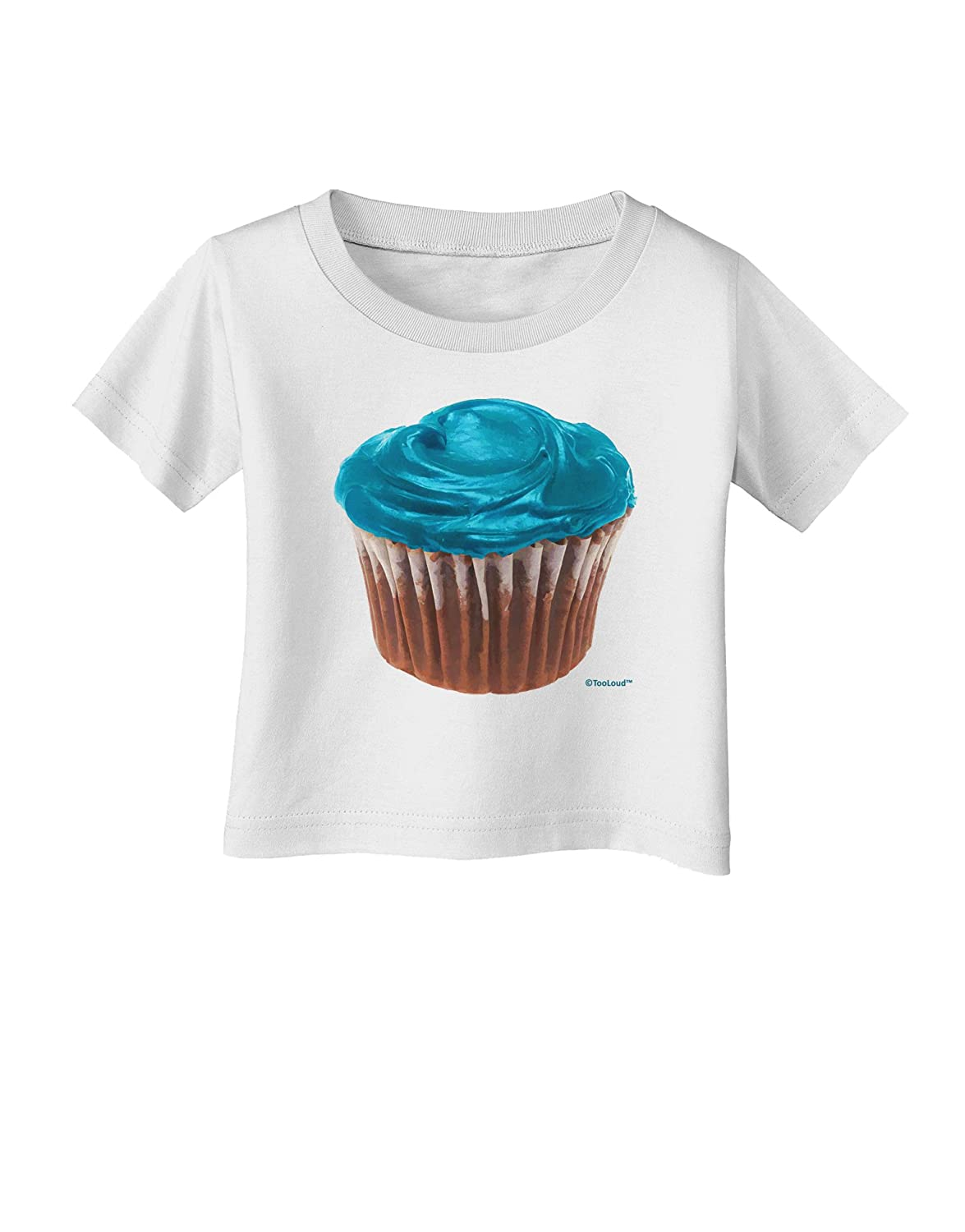 TooLoud Giant Bright Turquoise Cupcake Infant T-Shirt