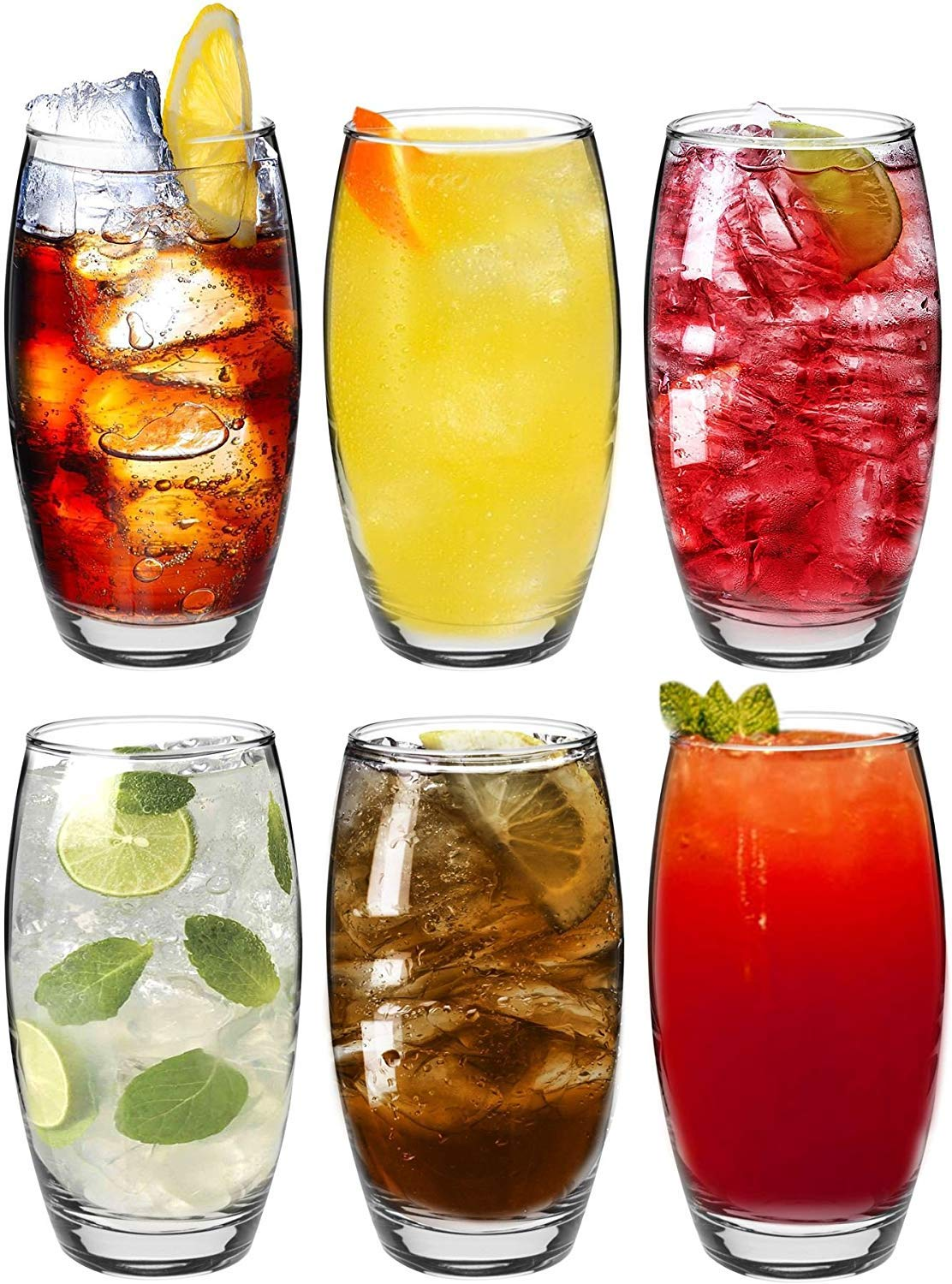 Set of 6 510cc. Gift Box Lav Highball Tumbler Water//Juice Drinking Glasses