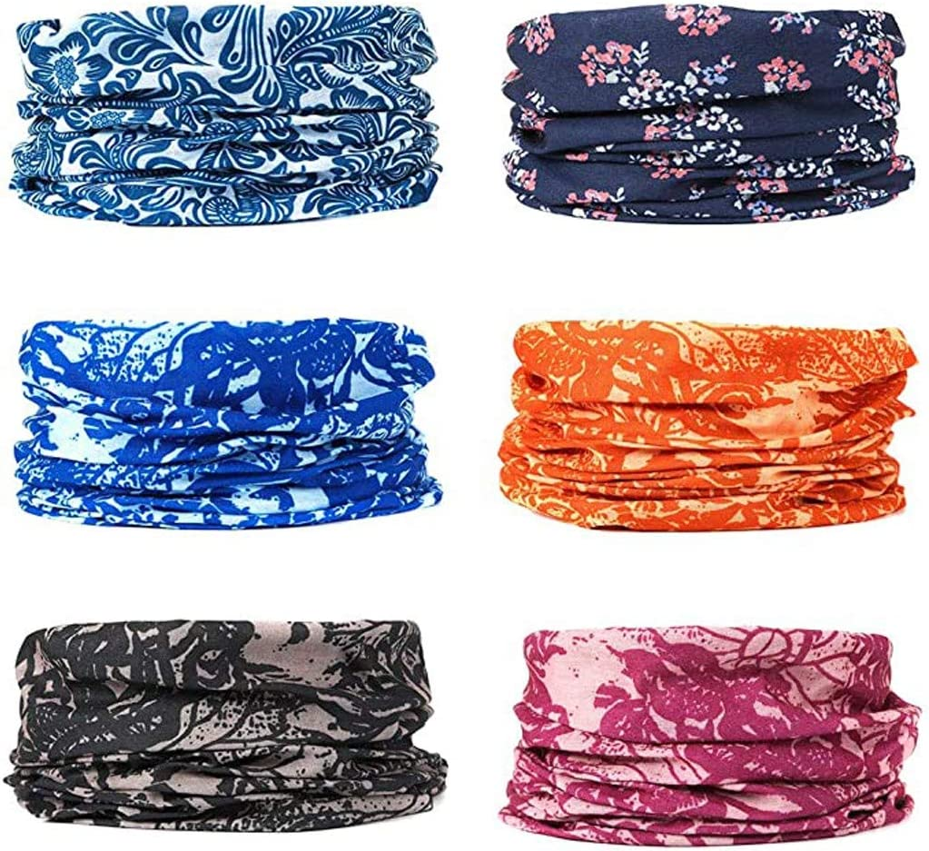 Boho Bandana Sports Scarf LHling Tube Face Protector Neck Gaiter Headband for Women Multifunctional Headwear Face Scarf Dust Sun Protection Cool Lightweight Windproof