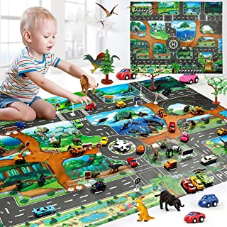 Acecor Kids Carpet Playmat City Life - Learn and Have Fun Safe! Children's Educational, Road Traffic System, Multi Color, Play Mat Rug Great for Playing with Cars, Bedroom Playroom, Area