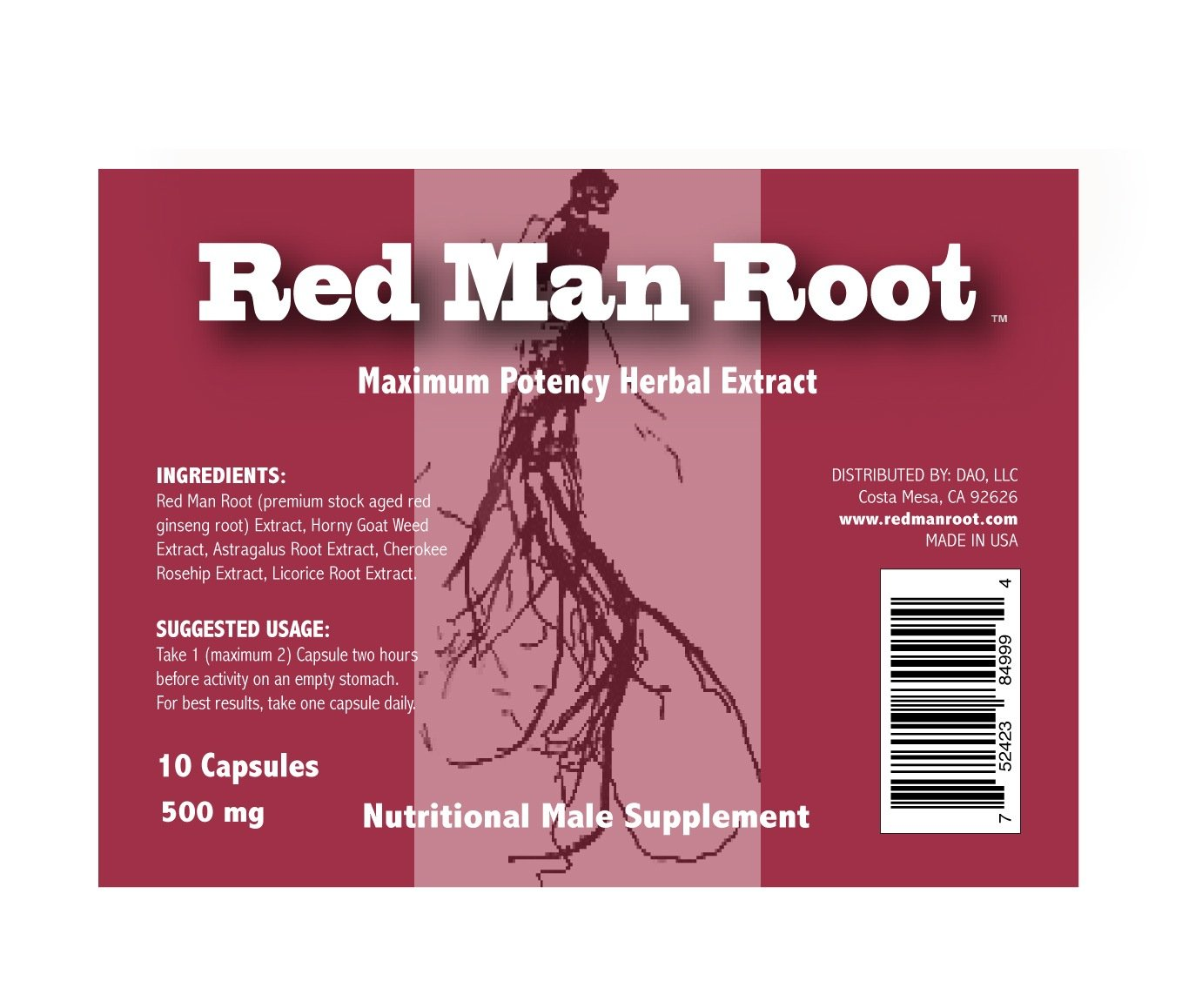 amazon com red man root all natural male enhancement pills health
