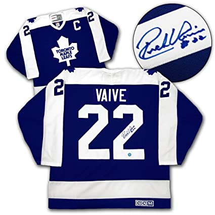 best website 898a9 1f243 RICK VAIVE Toronto Maple Leafs SIGNED Hockey JERSEY ...