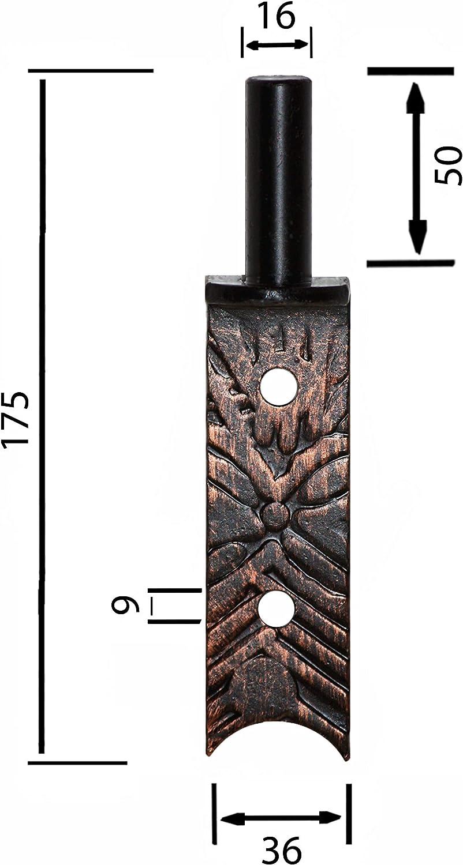 16 mm Kloben Kupfer Schmiedeeisen Ladenband T/ürband T/ürb/änder Torb/änder 600