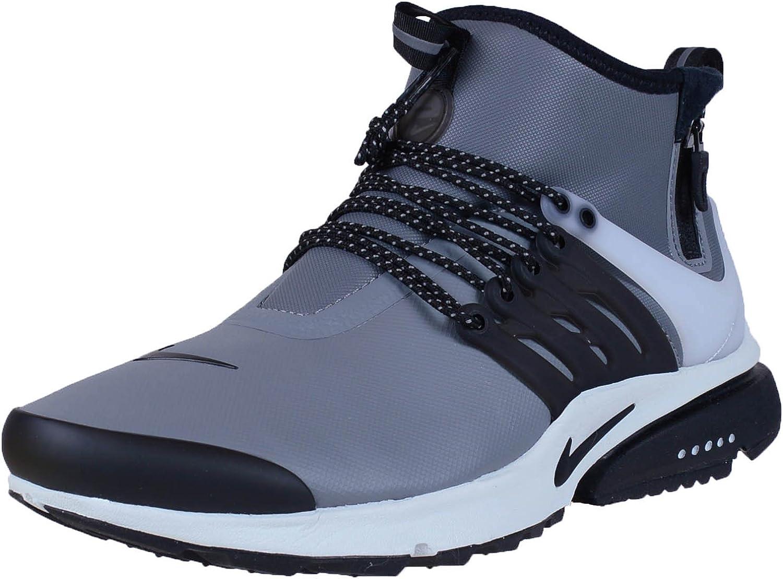 Nike Mens Air Presto Mid Utility Cool Grey Black Off White Volt Running Shoe 10 Men US