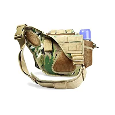 Canvas Shoulder Bag Fashionable Pocket Pack for Outdoor Activities- Soil
