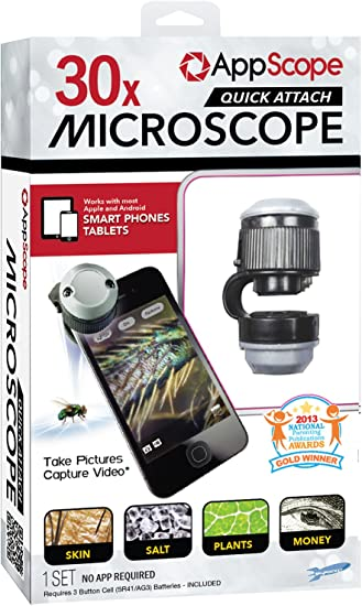 Appscope Quick Attach Microscope for Phones and Tablets
