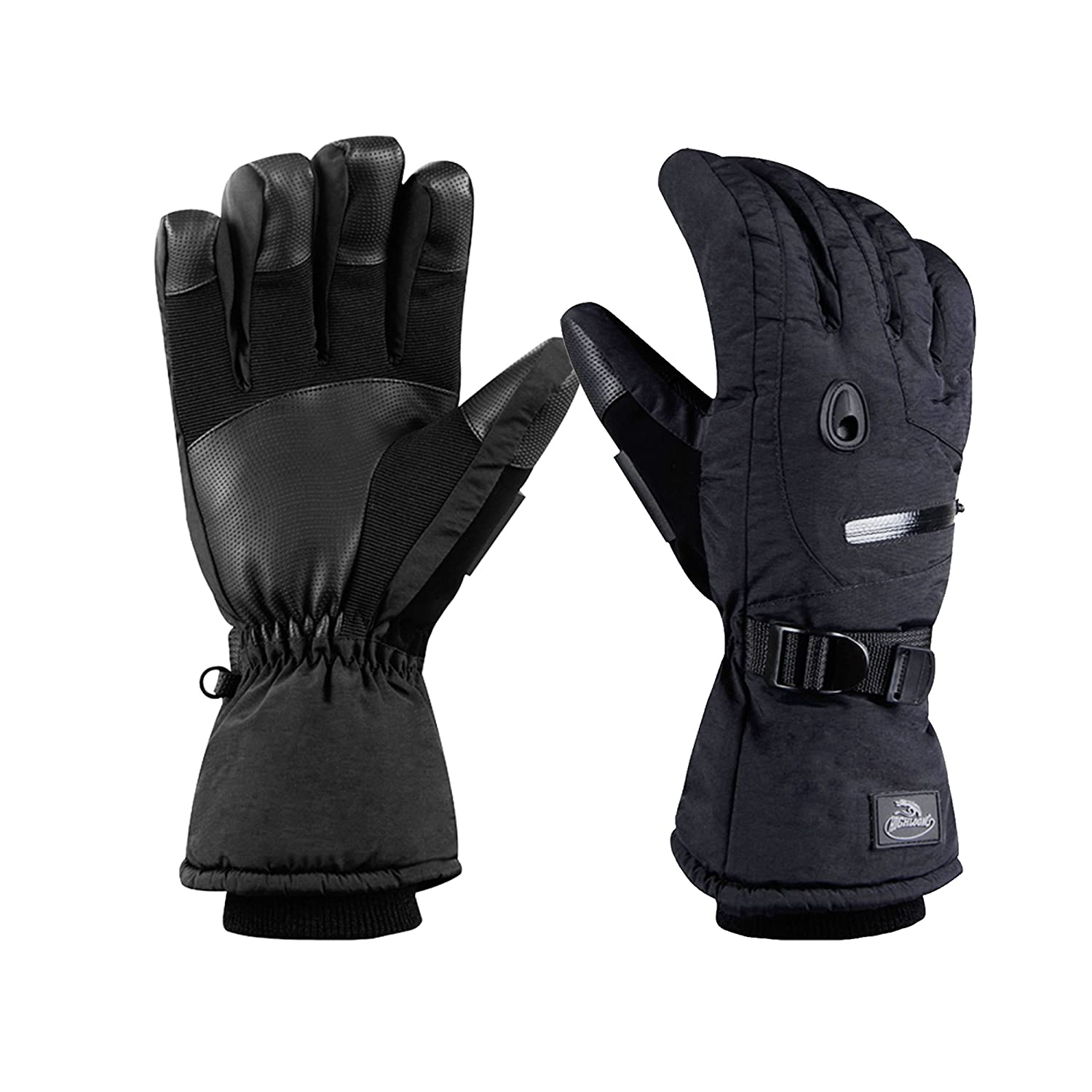 440388223bb2b1 HighLoong Men's Waterproof Ski Snowboard Gloves Warm Thinsulate Lined Cold  Winter Skiing Snowboarding Glove