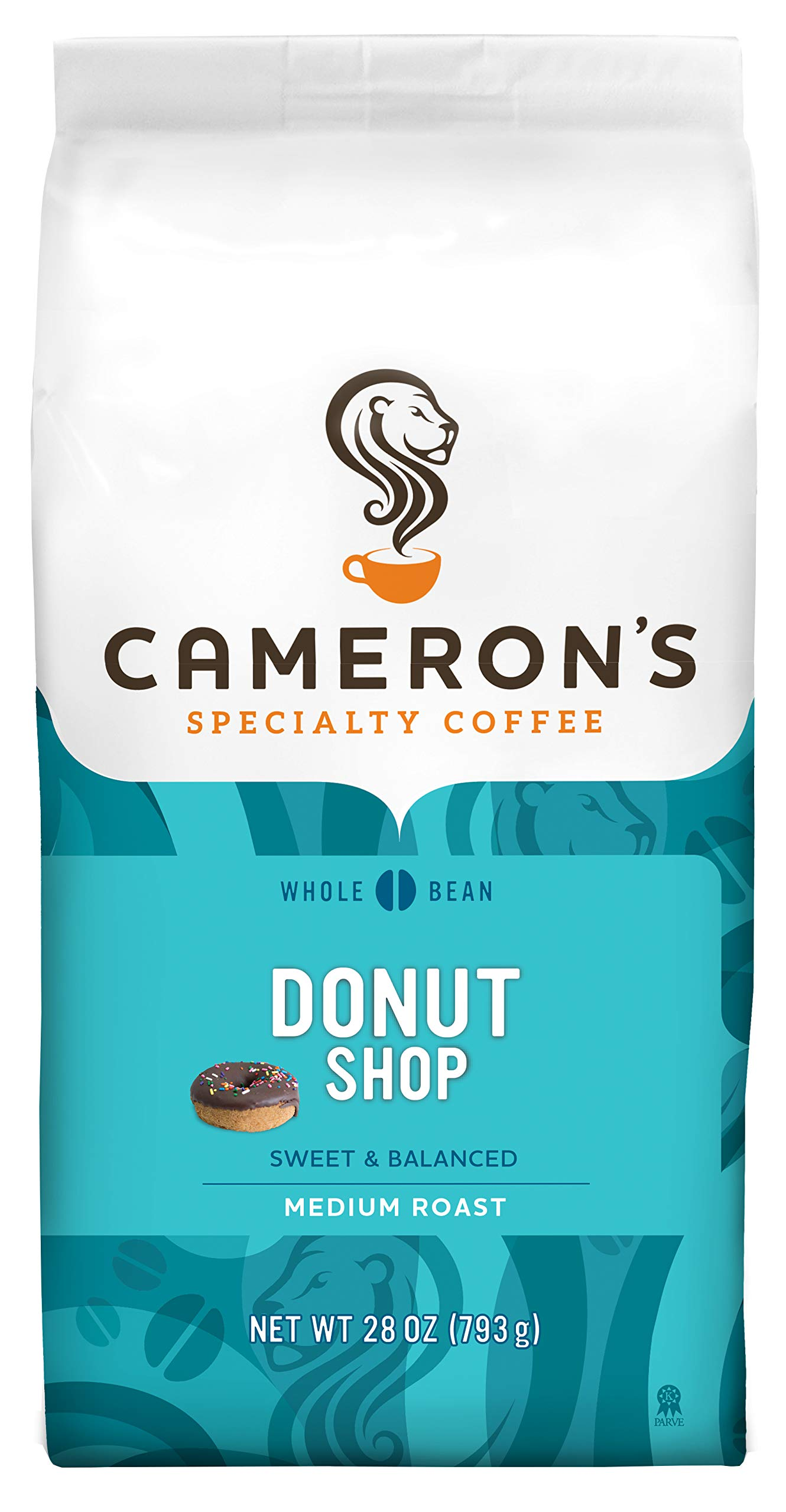Camerons Coffee Roasted Whole Bean Coffee, Donut Shop, 28 Ounce