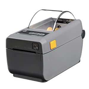 Zebra - ZD410 Direct Thermal Desktop Printer for labels, Receipts, Barcodes, Tags, and Wrist Bands - Print Width of 2 in - USB, Bluetooth, and Wifi Connectivity - ZD41022-D01W01EZ