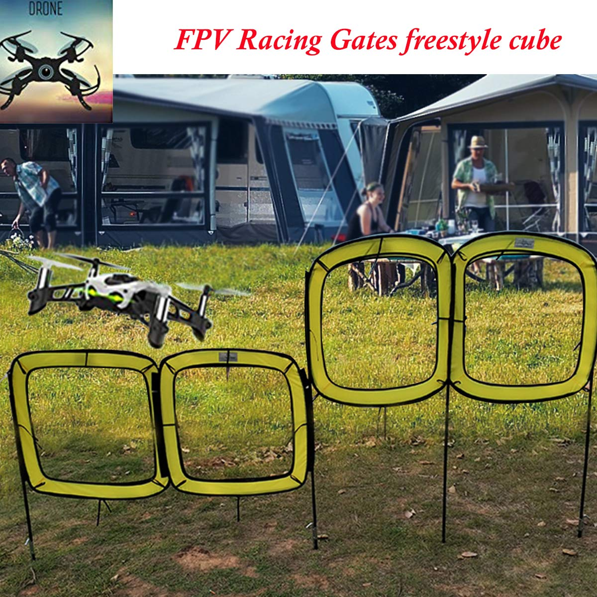 STARTRC Drone Racing Obstacle Course, FPV Ultra-Portable Race Gates Freestyle Cube,Create Your Own FPV Racing Drone Racing League.
