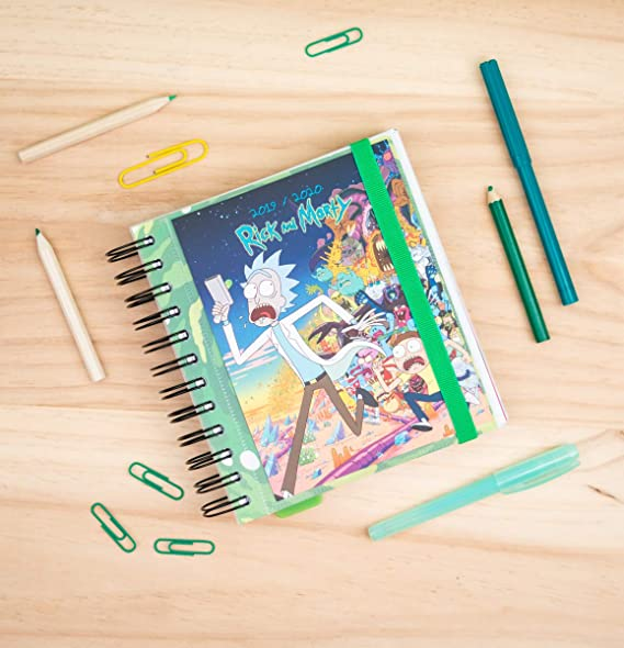 Amazon.com : School Diary 2019/2020 Day Page M Rick & Morty ...