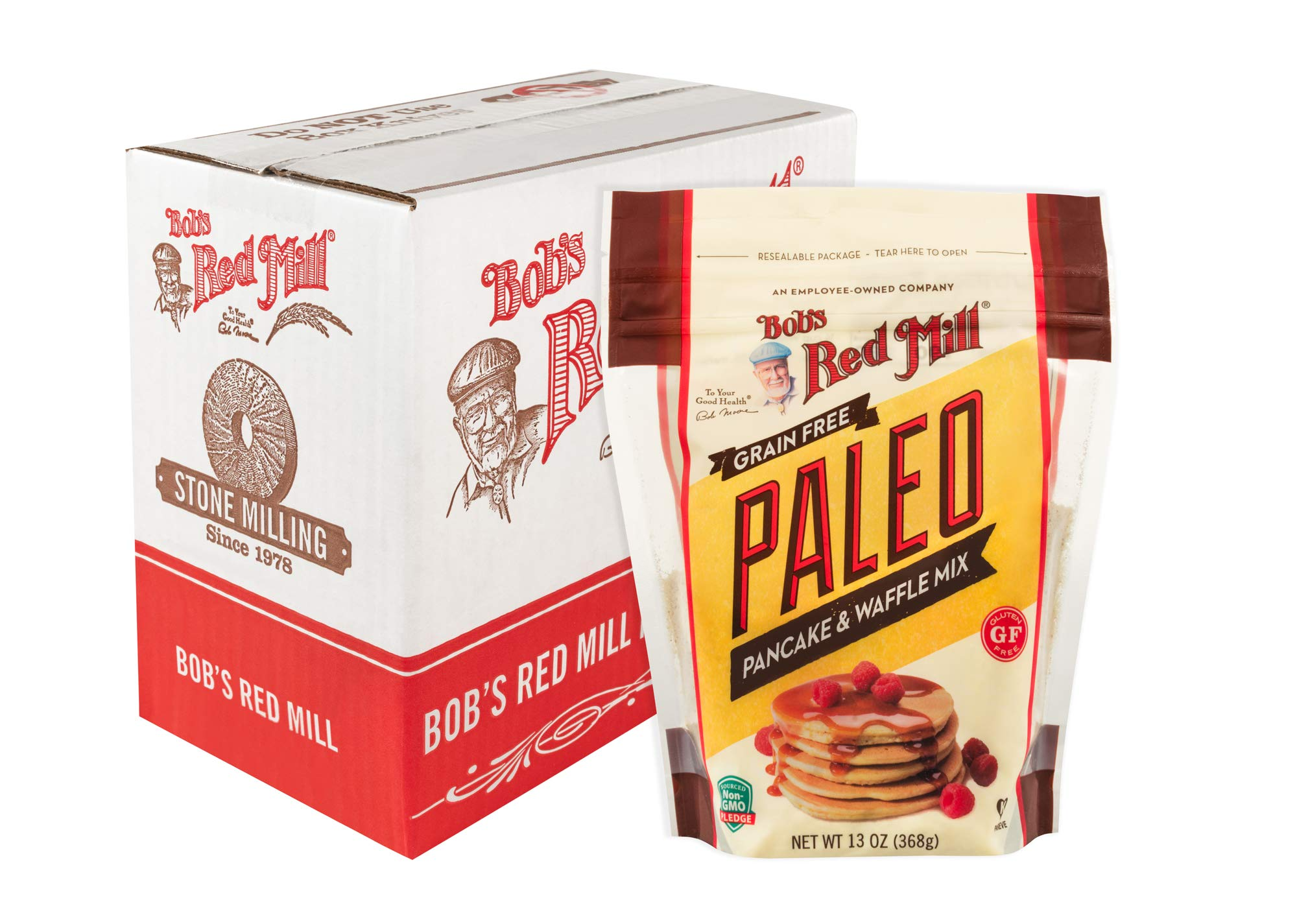 Bob's Red Mill Resealable Gluten Free Paleo Pancake & Waffle Mix, 13 Oz (4 Pack) by Bob's Red Mill