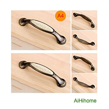 10pcs Bronze Ceramic Cabinet Knob Drawer Pull Handle Kitchen Door Hardware  For Furniture Door,Cupboards