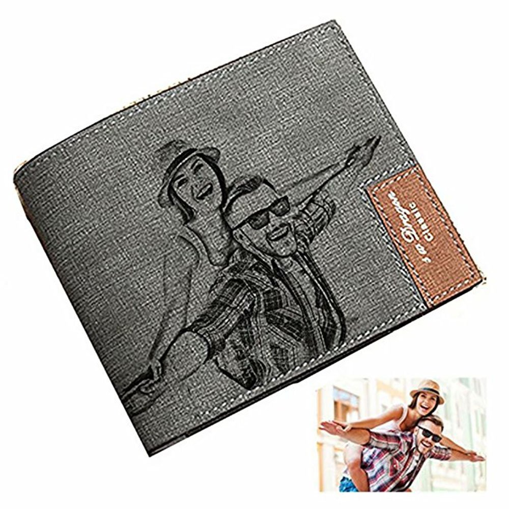 Personalized Photo Wallet Mens Custom Photo Wallet Leather Wallet Fashion Perfect Fathers Day Gift