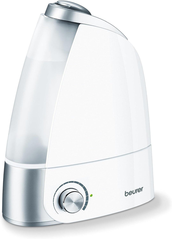 Beurer LB44 - Humidificador de aire ultrasónico higiénico e inodoro, humidificación por vaporización de agua, depósito 2.8 litros extráible, 20 W, alcance 25 m² ...